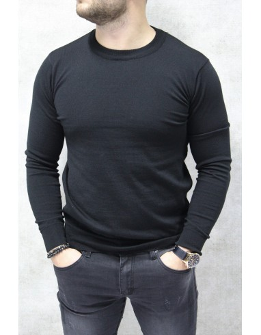 Sweter BLACK PLAIN 4MEN